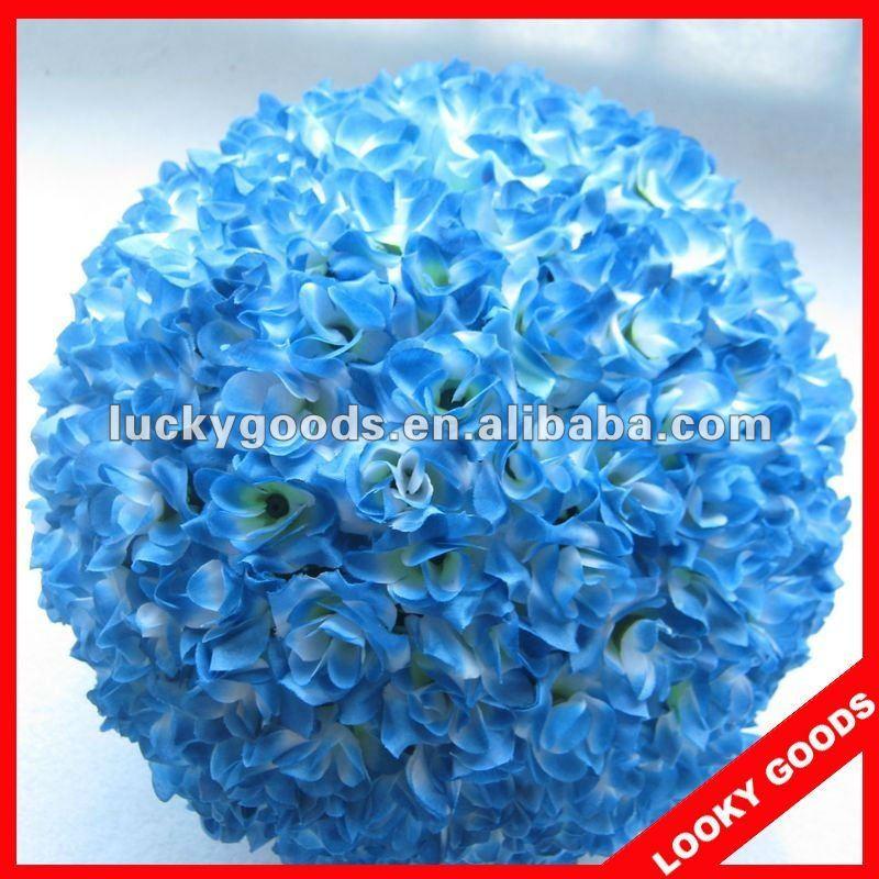 Blaue Farbe Kunstliche Blume Hochzeit Ball Runde Blutenkugeln