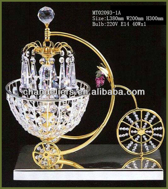 lovely crystal table lamp/chandelier crystal