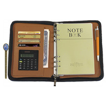 2018 New design 6 Ring Binder Leather Agenda Note book
