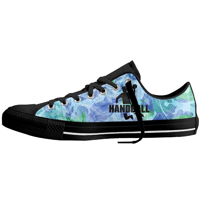 Handball Fans Low-Top Sneaker Canvas Shoes Boys Women's Lace-up Skate Sneakers