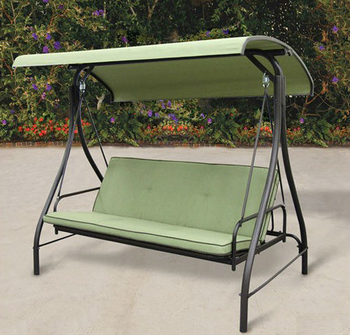 Outdoor Patio Garden Furniture 3 Seater Canopy Swing Lounge Chair