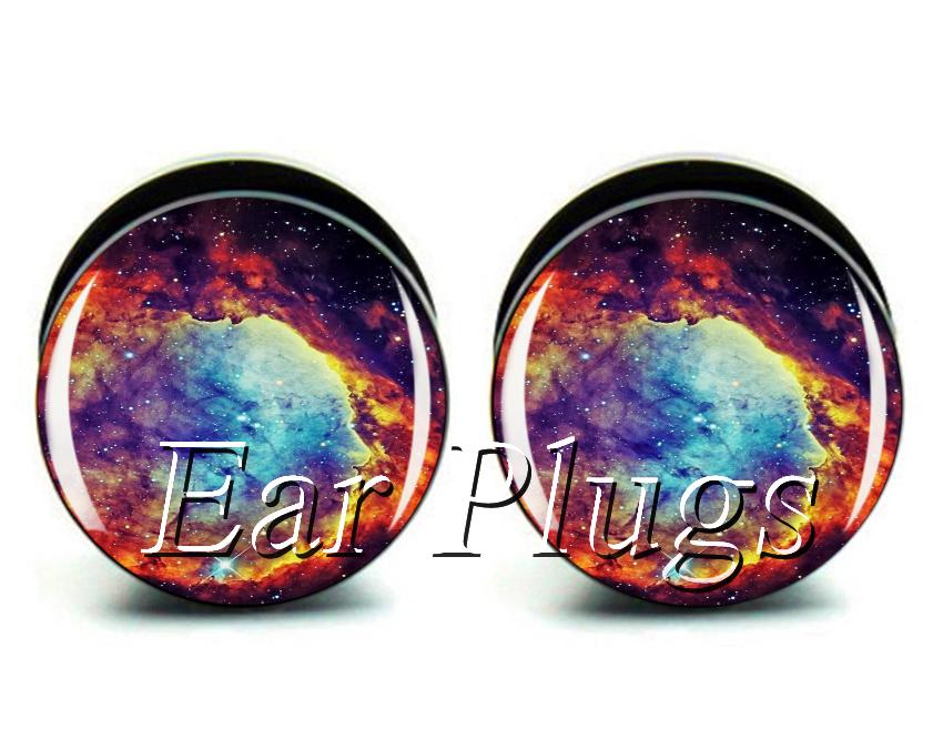 Get Quotations Whole 60pcs Charming Nebula Plug Gauges Acrylic Ear Tunnel Mix 10 Sizes