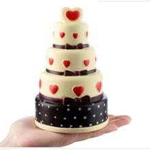 18CM Jumbo 4 Layers Red Heart Cake Squishy Soft Slow Rising Chocolate Cake Kids Doll Toys Phone DIY Decor Squeeze Fun Gift