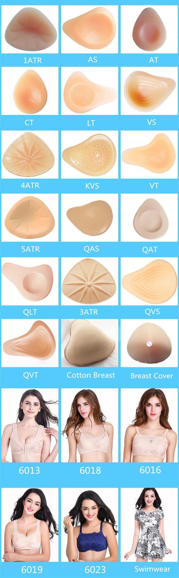 400g/piece 95C/100B-C/105A-C/110A-C Size9 Silicone Chest Protector Artificial Silicone Breast Forms Prosthetics For Mastectomy