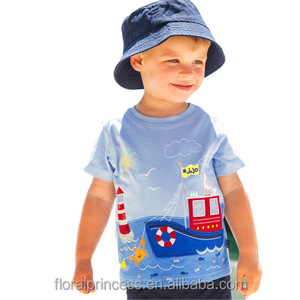 New Summer Boys Tops Children's T-shirts for Boys Children's T-shirt Cotton Cartoon Printed Clothing for Little Boys