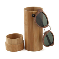 Y&J brand Good quality fashion new products wholesale customized handcrafted bamboo wood branded glassed case