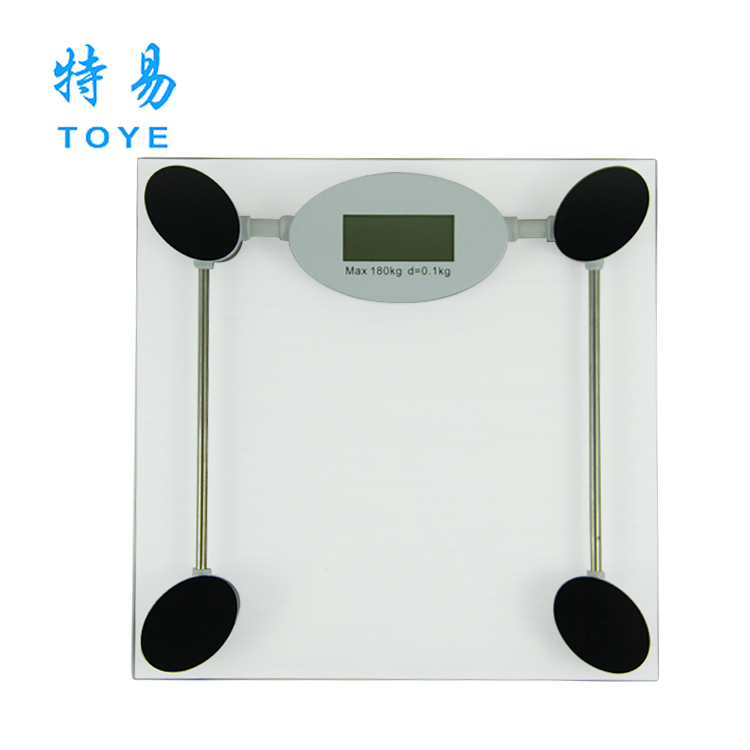 Capacity 396lb TOYE Digital talking 6mm glass scale in China weighing scale in bangalore