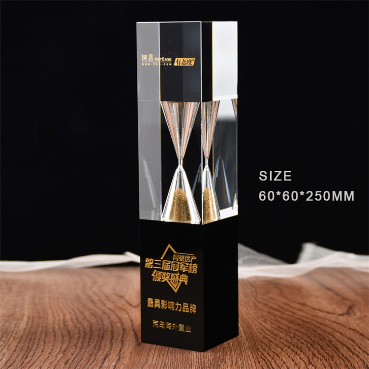 Hot selling cheap custom crystal trophy and glass award wholesale