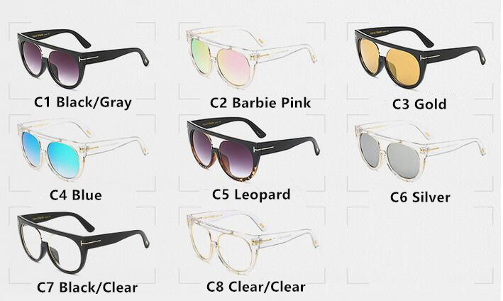 Fashion Clear Flat Top Quality Hot Square Sunglasses Men Women Luxury Brand Design Lady Sunglasses Super star Eyewear Elegant