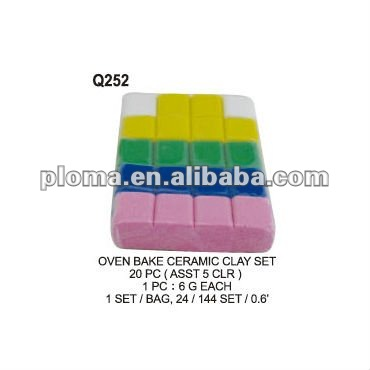 FOR CRAFT (Q252) OVEN BAKE CERAMIC CLAY SET