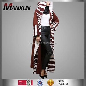 2016 Hotsale Wine Red Special Design Muslim Womens Tunic Arab Coat Abaya For Sale Online