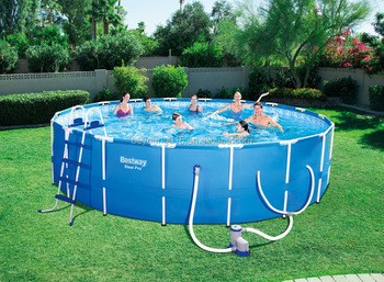 18ftx48in Bestway Steel Pro Round Frame Pool Set Size Outdoor 18