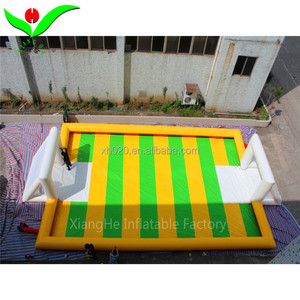 2018 Inflatable portable soapy soccer field Inflatable soap water football field for sale