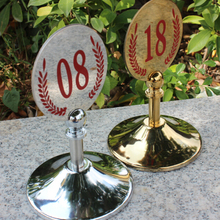 Commercial kitchen Stainless steel Dining accessories Restaurant Table Numbers