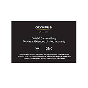 Olympus OM-D Camera Body 2 Year Extended Limited Warranty