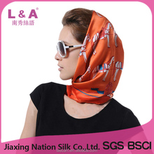 Lady Silk Scarf With Allover Animal Printed Fashion Pattern(SP429AB)
