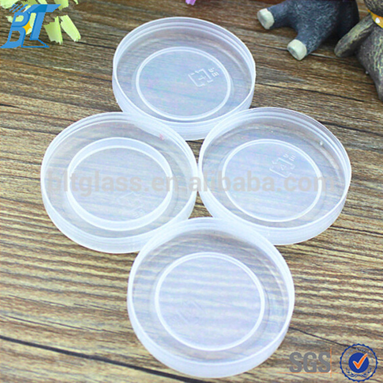 Safe healthy grade PP PE plastic lid, plastic bottle cap for glass yogurt jar milk bottle