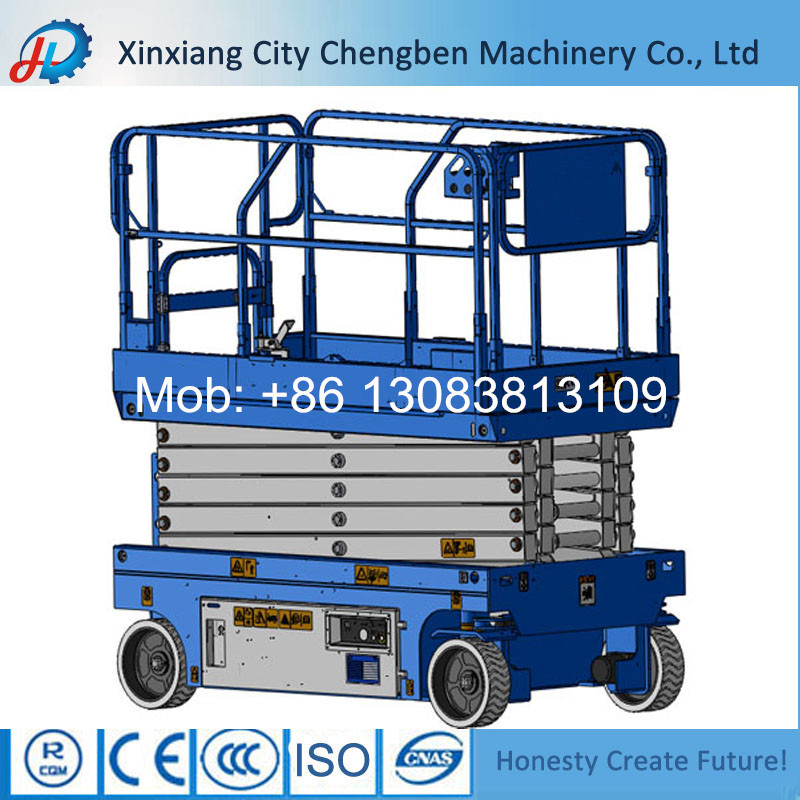 safety car mobile scissor lift platform with emergency stop