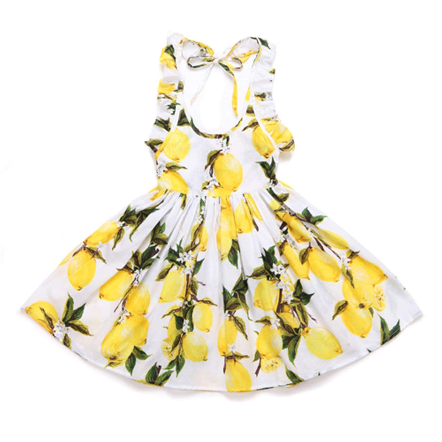 Wanyesta Baby Girls Dress Summer Beach Style Floral Print Party Backless Dresses Vintage Toddler Girl Clothing 1-9Yrs