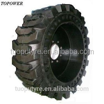 High Quality Skidsteer Solid Flex Tires 10-16.5 For Bobcat