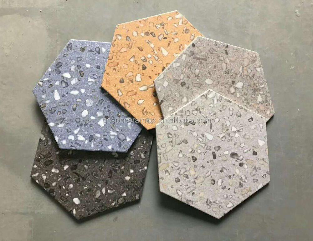 Lastest Design 10x12inch Terrazzo Hexagon Tiles,Matt Finish ...