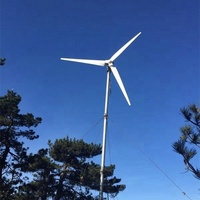 5kw Low speed AC horizontal wind turbine/Small Home Off -Grid Wind Generator System