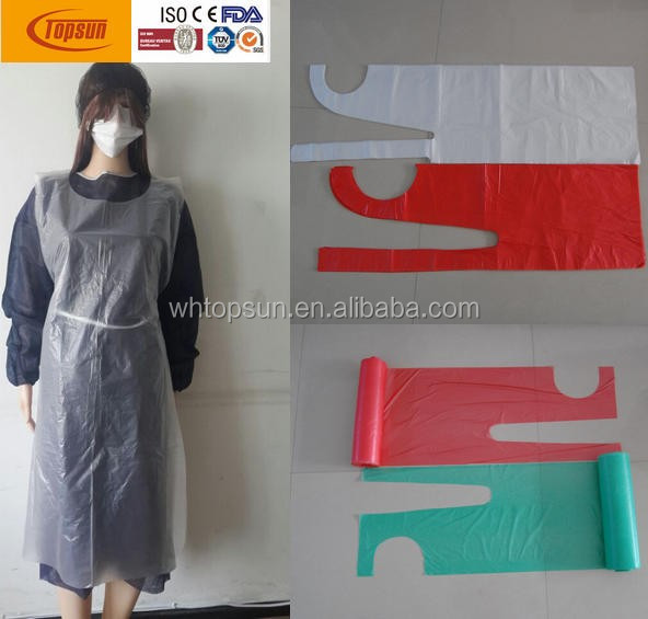 PE Material and Disposable Type Plastic printed apron