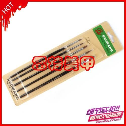 5 pcs Nail Art Brush Round Head Painting Polish Set High Quality Wholesales