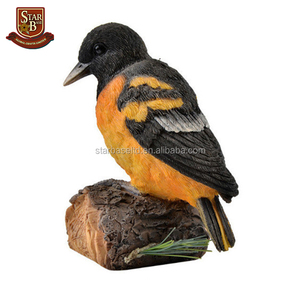 OEM ornaments animal figures deocarive resin small bird figurines