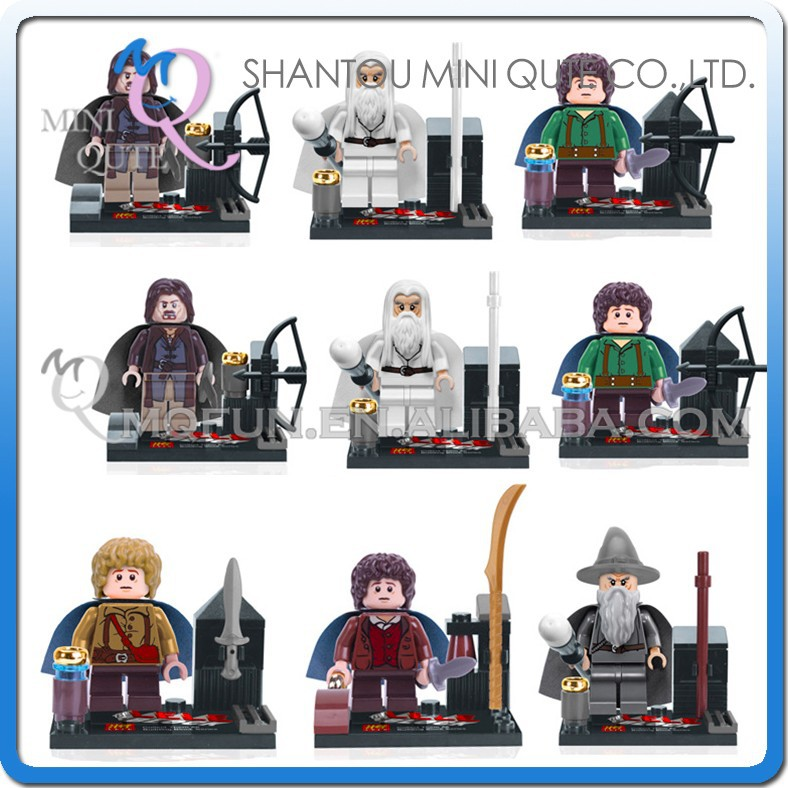 Mini Qute LELE 8pcs/set plastic movie Lord of the Ring super hero boys building block action figures educational toy NO.79001