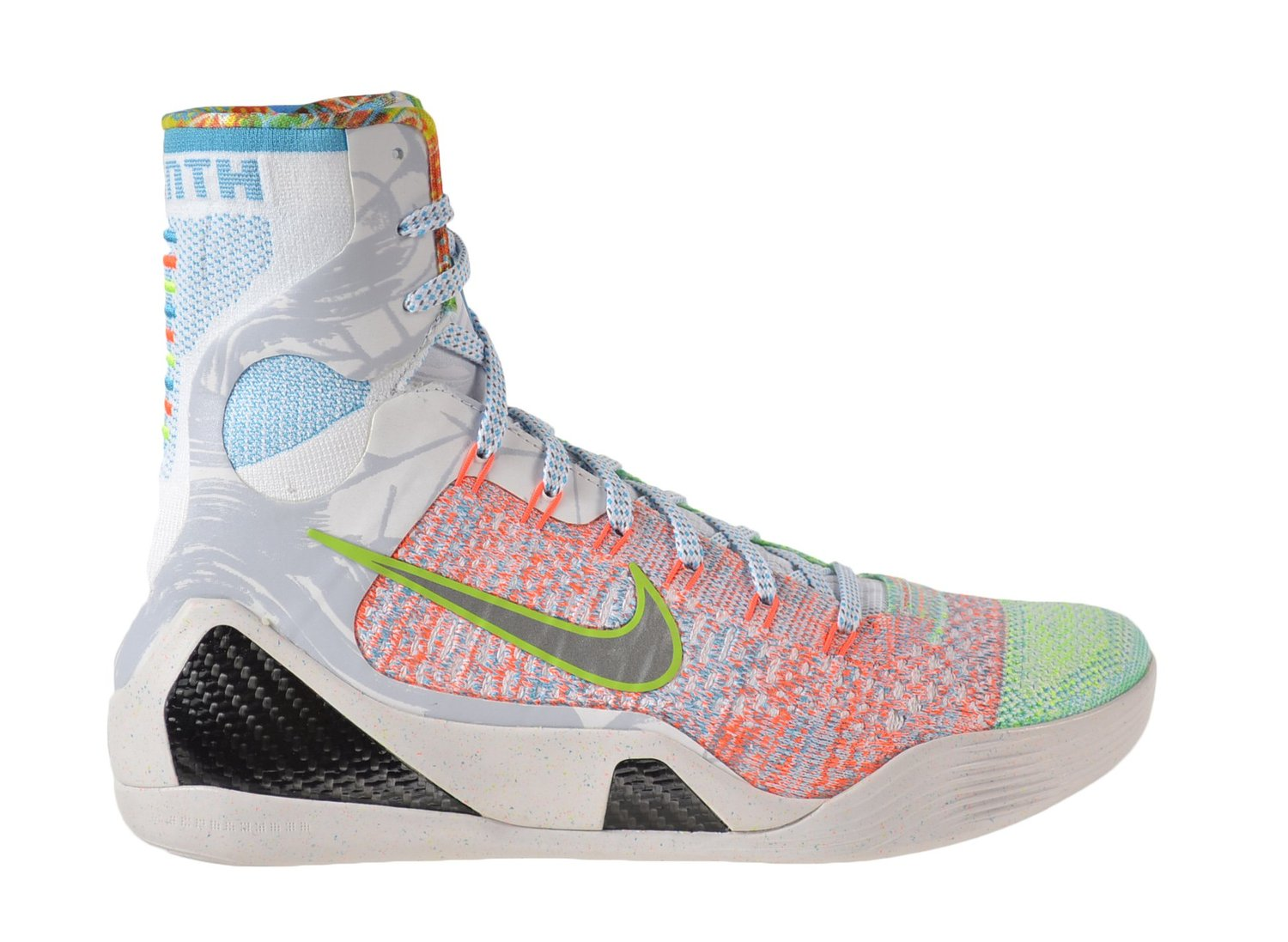 "Nike Kobe IX Elite Premium ""What The"" Mens' Shoes Multicolor/Reflect Silver-Chlorine Blue 678301-904"