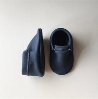 Wholesale Monogram Personalized Newborn Leather Baby Loafer Moccasins
