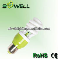 Professional 120V/230V T3 11W 530LM E27 2700K-6400K Half-spiral energy saving lamp made in China