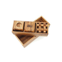 2017 Most Popular wooden cube magic square 3d cube puzzle