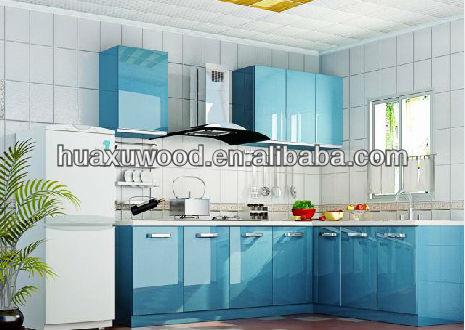 Bleu peinture porte ensemble d 39 armoires de cuisine armoire de cuisine id - Penture porte armoire cuisine ...