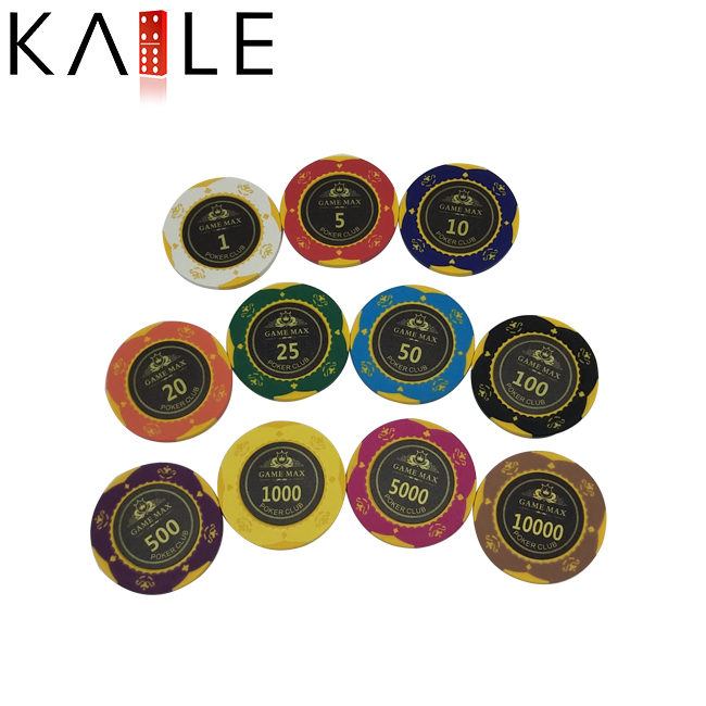 Kaile Custom Sticker 14g Clay Poker Chip