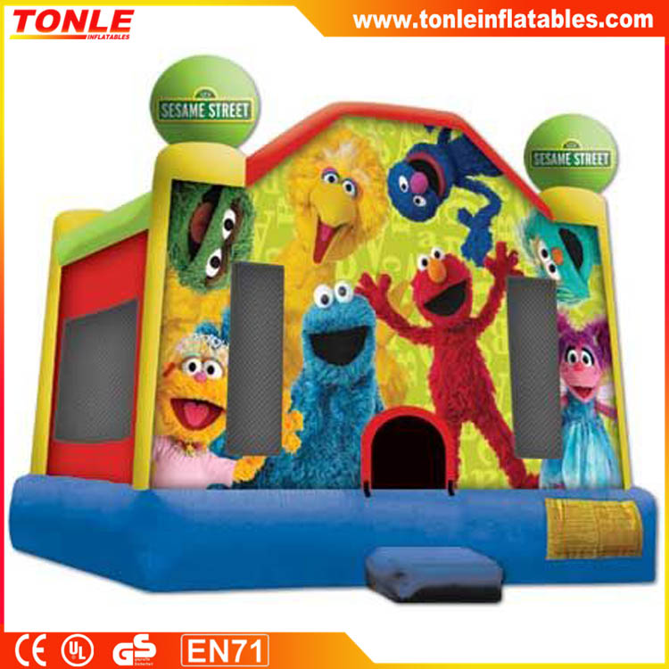 Elmo Inflatable Bouncy Castle, Sesame Street Inflatable Bouncer SIide for kids, Inflatable Moonwalk for sale