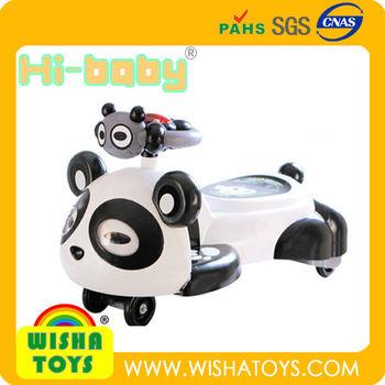 panda children swing carplasma cartwist car with music lights