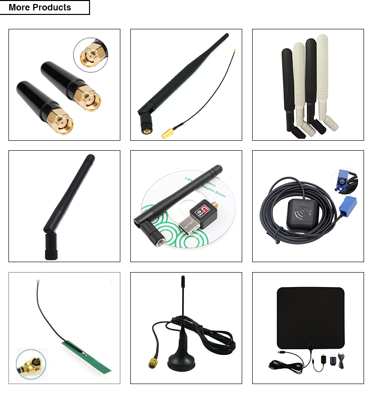 factory price wifi 2.4ghz antenna SMA connector, different sizes 2.4g wifi internal antenna, high gain wifi rubber antenna