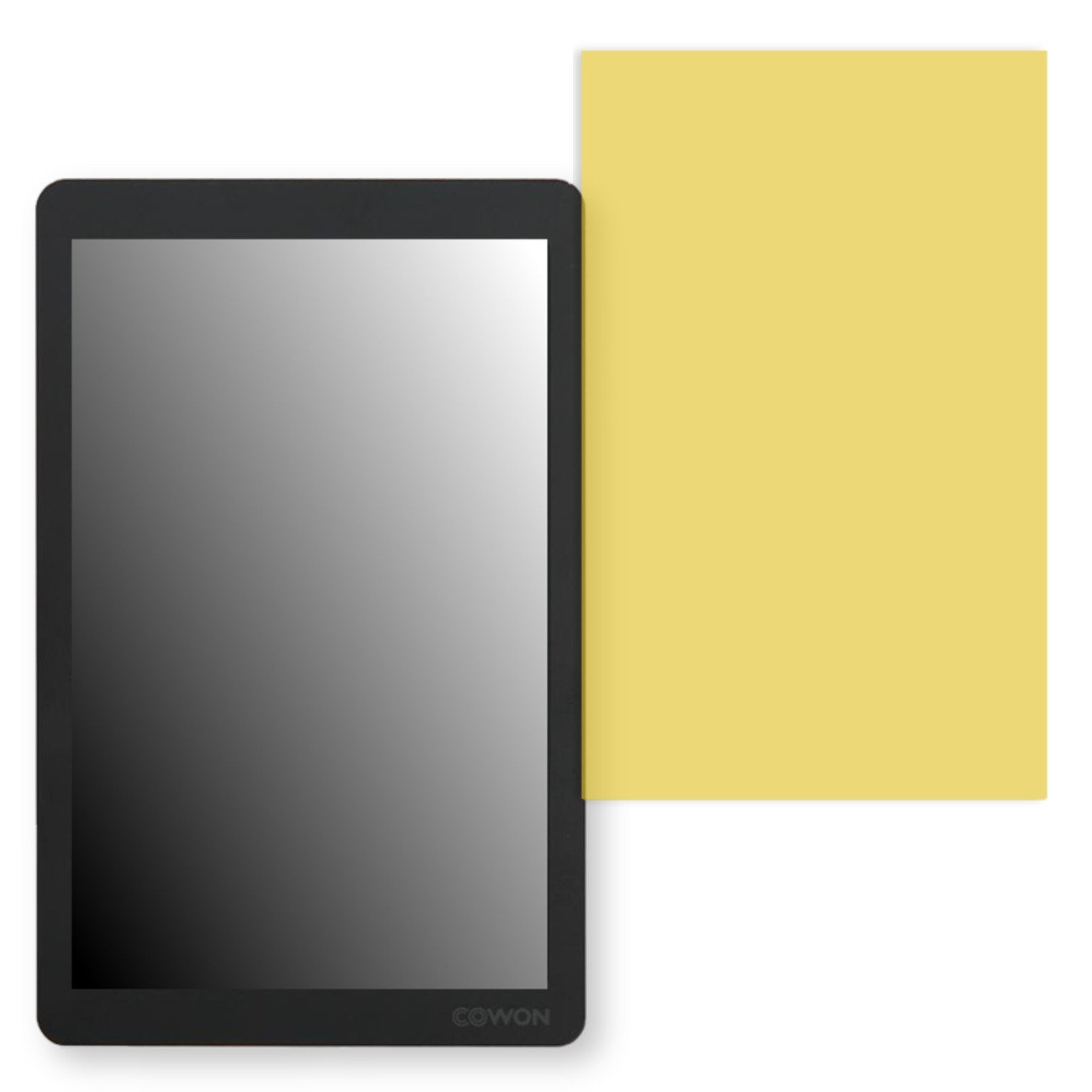 GOLEBO Screen Film for Privacy protection yellow for Cowon X9 - PREMIUM QUALITY