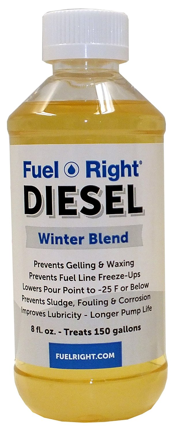 Fuel Right - Winter Diesel Fuel Additive Treatment - Stops Gelling, Waxing & Fuel Line Freezing - Improves Lubricity, Prevents Sludge, Fouling, Corrosion & Improves Performance