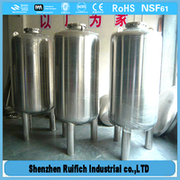 High quality horizontal tank,stainless steel pressure tank,stainless steel water pressure tank
