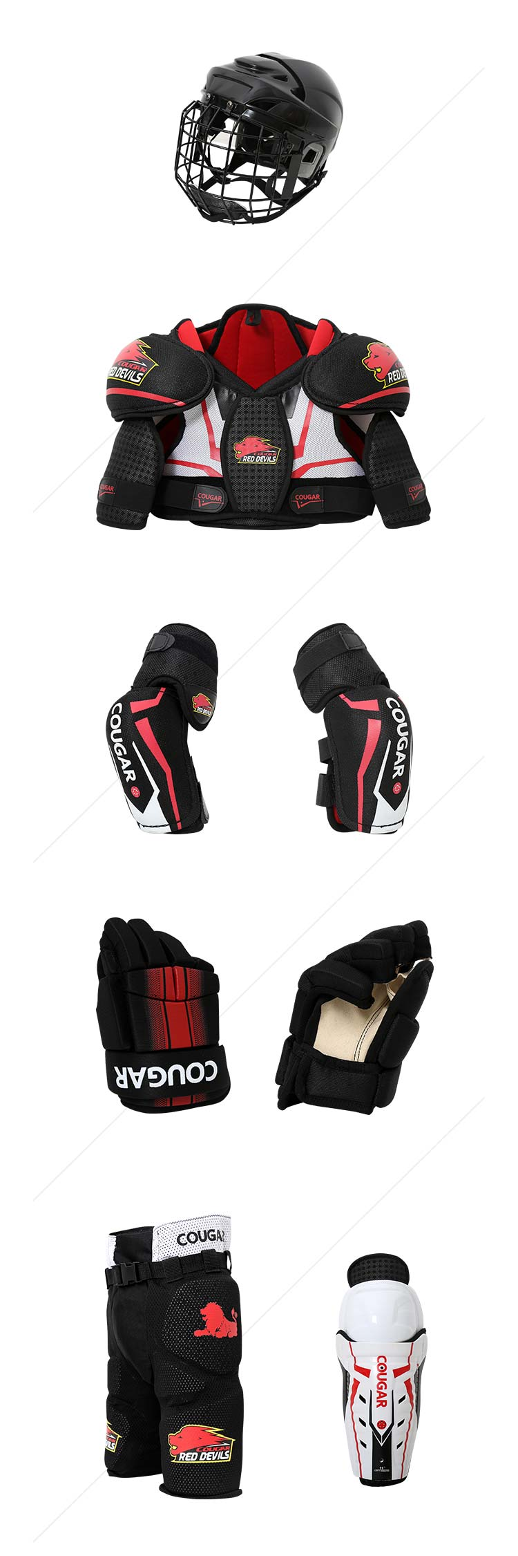 Guangdong Manufacturer best quality children full set player's skates inline hockey equipment