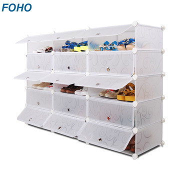 Hottest Selling Customized DIY Plastic Material Sliding Door Shoe Cabinet  Storage For Closet