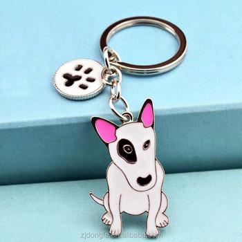 Wholesale American Pit Bull Terrier keychains Pet key ring dogs pendants  key chains woman Car key cb843abd958c
