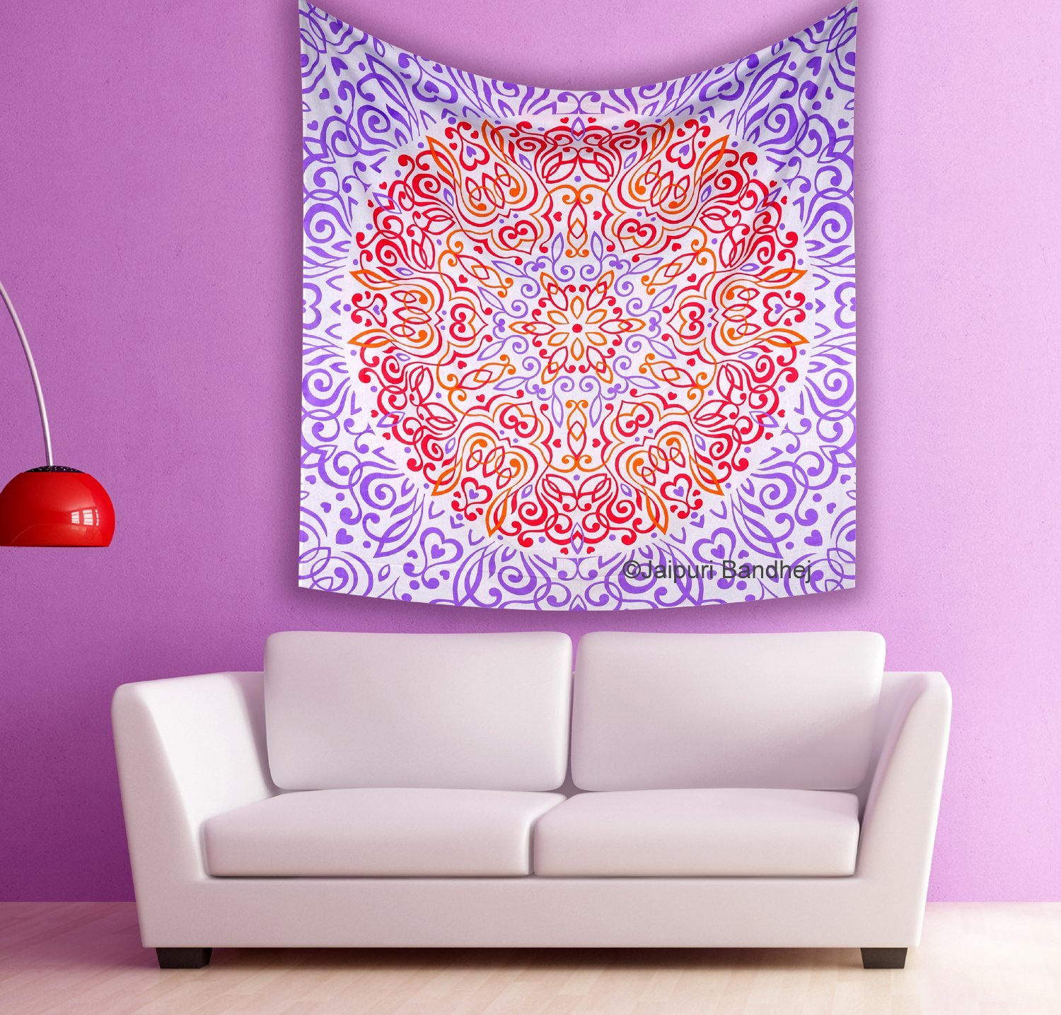 Hippie Tapestries, Bohemian Mandala Indian Tapestry Wall Hanging, Meditation Mandala Hippie Hippy Ombre Wall Hangings, Throw Cotton Bedcover , Picnic Beach Sheet