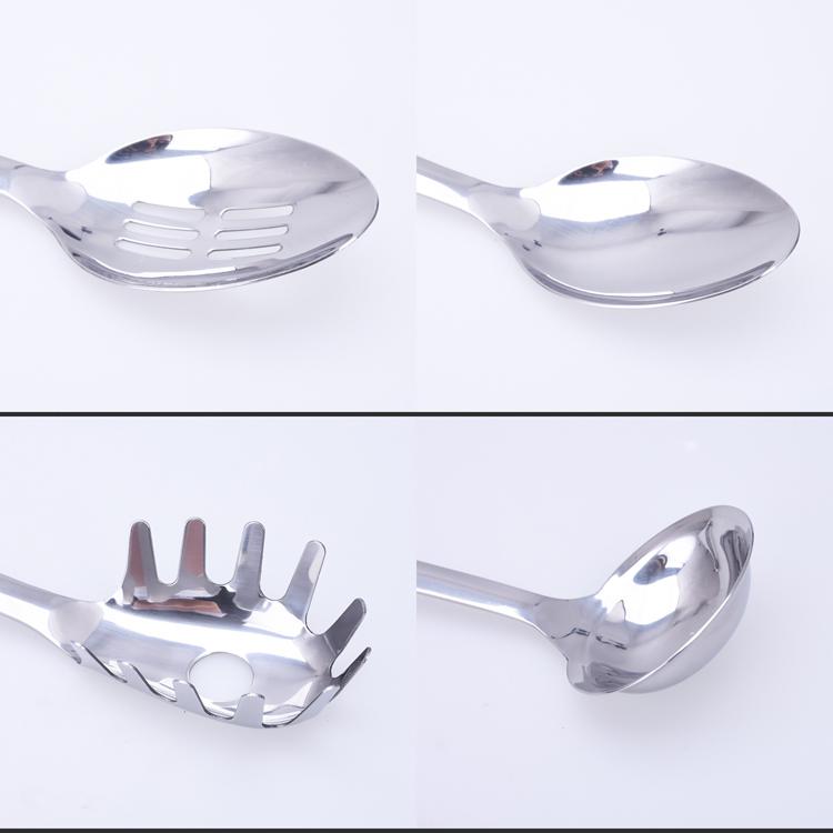 Kitchen Utensils Product ~ Full set plastic handle kitchen tools stainless steel