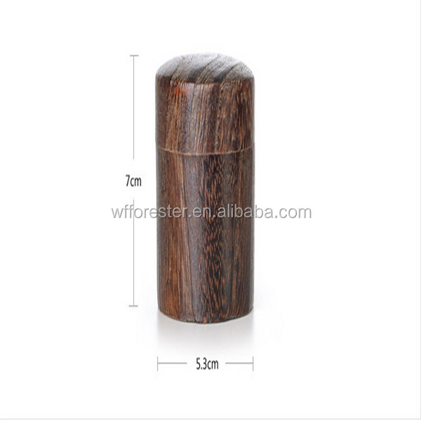 customize make acrylic/wood lid bamboo tea box tea wooden box cylinder tea box