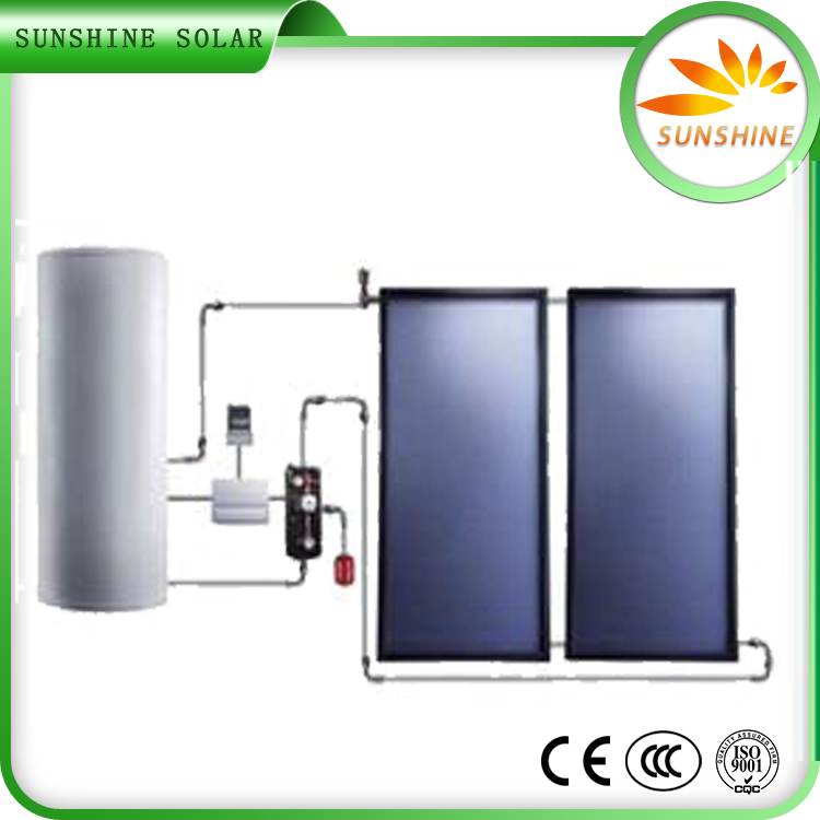 Quality assured solar power system hot water flat plate/panel solar thermal heater