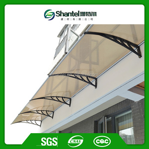 Polycarbonate Plastic Window Awning With Polycarbonate Sheet